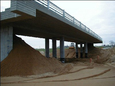 "The ""Green Bridge"" is a highway bridge that was constructed a couple of years ago as a part of a project where different kinds of industrial waste materials were tested as an additive to concrete."